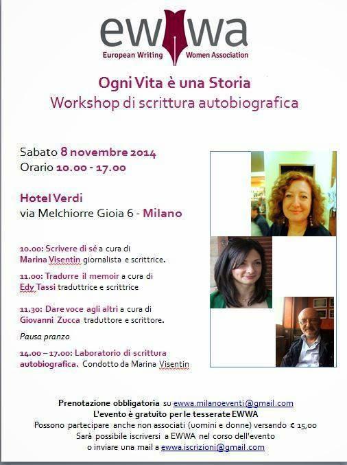 EWWA – workshop di scrittura autobiografica (Milano)