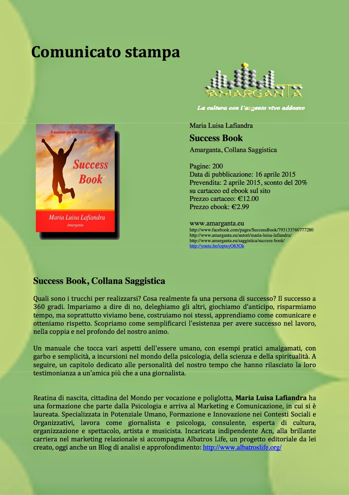 Success Book, di Maria Luisa Lafiandra