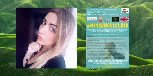 Eventi: Katiuscia Girolametti presenta #nessunoescluso