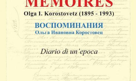 """""""Memoires"""" di Olga I. Korostovetz – Diario di un'epoca, di Carlo Gastone"""